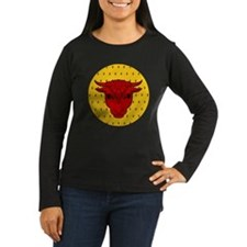 Populace Badge Women's Long Sleeve Dark T-Shirt