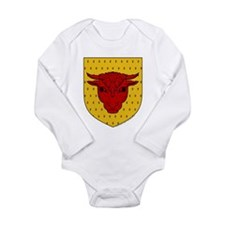 Populace Badge Long Sleeve Infant Bodysuit