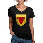 Populace Badge Women's V-Neck Dark T-Shirt