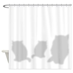 Three Kitties Cat Shower Curtain