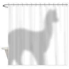 Alpaca 2 Shower Curtain
