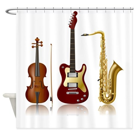 Jazz Instruments Shower Curtain