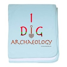 I Dig Archaeology baby blanket