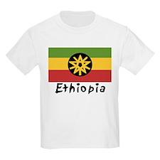 Rasta Gear Shop Ethiopian Flag Kids T-Shirt