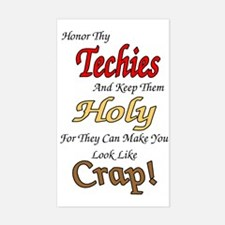 Holy Techies Rectangle Decal