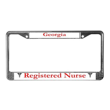 Georgia Registered Nurse License Plate Frame