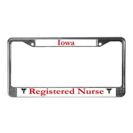 Iowa Registered Nurse License Plate Frame