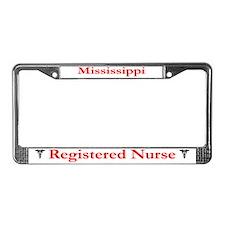 Mississippi Registered Nurse License Plate Frame