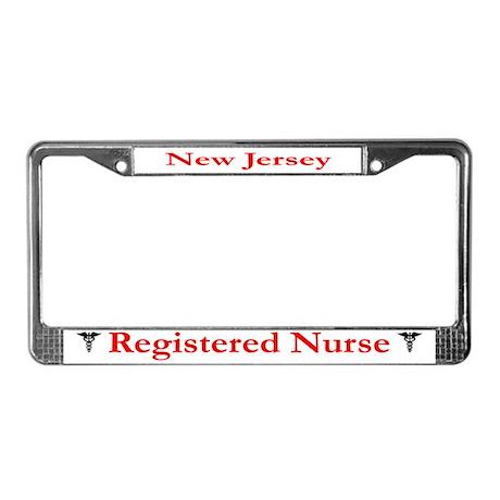 New Jersey Registered Nurse License Plate Frame