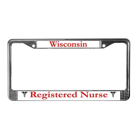 Wisconsin Registered Nurse License Plate Frame