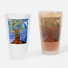 Tree of Life Design Drinking Glass
