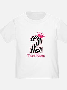 2nd Birthday Zebra Print T