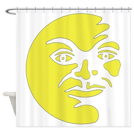Man in Moon Shower Curtain