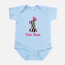 1st Birthday Zebra Infant Bodysuit