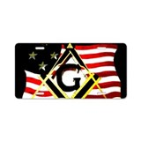 American flag license plate License Plates