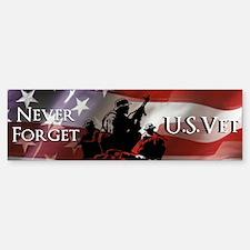 Never Forget U.S. Vet sticker (Bumper)