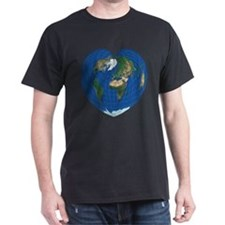 World Map Heart: T-Shirt