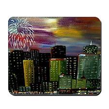 City Fireworks Mousepad