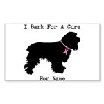 Cocker Spaniel Personalizable I Bark For A Cure St