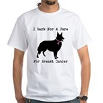 Collie Personalizable I Bark For A Cure White T-Sh