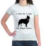 Collie Personalizable I Bark For A Cure Jr. Ringer