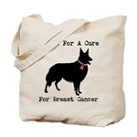 Collie Personalizable I Bark For A Cure Tote Bag