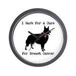 Collie Personalizable I Bark For A Cure Wall Clock