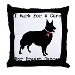 Collie Personalizable I Bark For A Cure Throw Pill