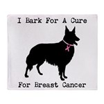 Collie Personalizable I Bark For A Cure Stadium B