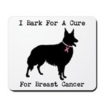 Collie Personalizable I Bark For A Cure Mousepad