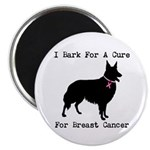 Collie Personalizable I Bark For A Cure 2.25