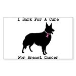Collie Personalizable I Bark For A Cure Sticker (R