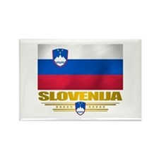 """Slovenia Flag"" Rectangle Magnet"