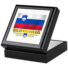 """Slovenia Flag"" Keepsake Box"