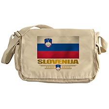 """""""Slovenia Flag"""" Messenger Bag"""