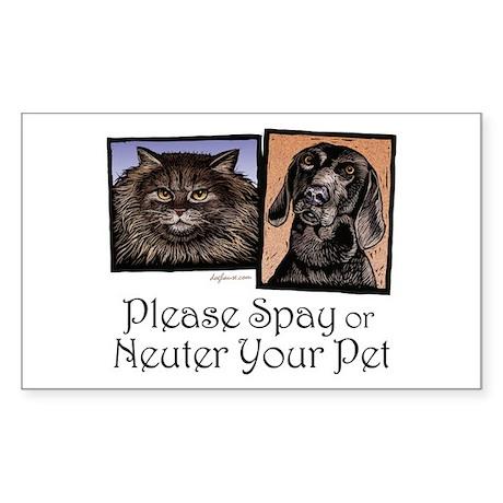 Spay/Neuter Pet Rectangle Sticker