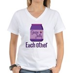 Couples Each Other Jelly Women's V-Neck T-Shirt