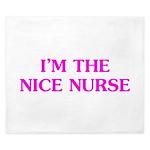 Pink Nice Nurse King Duvet