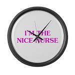 Pink Nice Nurse Large Wall Clock