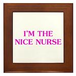 Pink Nice Nurse Framed Tile