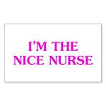 Pink Nice Nurse Sticker (Rectangle 50 pk)