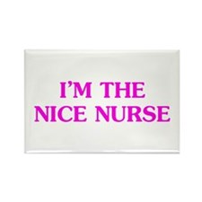 Pink Nice Nurse Rectangle Magnet