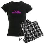 Pink Nice Nurse Women's Dark Pajamas