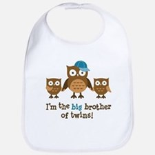 Big Brother of Twins - Mod Owl Bib