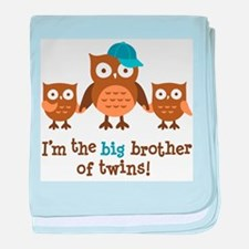 Big Brother of Twins - Mod Owl baby blanket