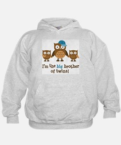 Big Brother of Twins - Mod Owl Hoodie