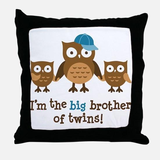 Big Brother of Twins - Mod Owl Throw Pillow