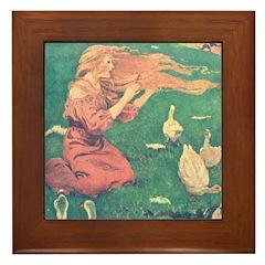 Smith's Goose Girl Framed Tile