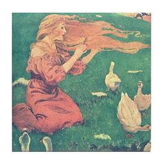 Smith's Goose Girl Tile Coaster