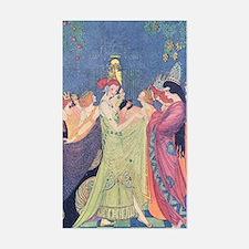 Abbott's Dancing Princesses Rectangle Decal